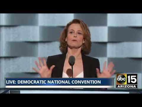 FULL: Actress Sigourney Weaver on Global Warming - Democratic National Convention