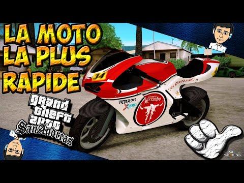 GTA San Andreas // La MOTO le plus Rapide du Jeu + POURSUITE