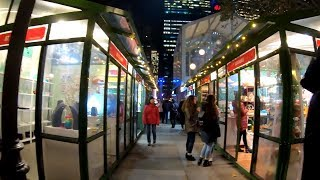 ⁴ᴷ⁶⁰ Walking Tour of the 2018 Bryant Park Winter Village, NYC