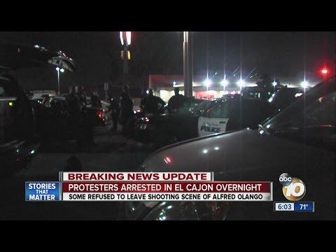 Protesters arrested in El Cajon overnight
