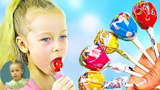 Finger Family of Sweets | Johny Johny Yes Papa | Learn Colors 2019