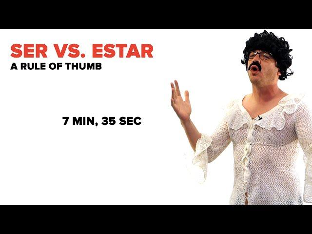 Ser vs Estar explicacion en ingles.
