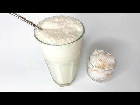 How To Make Coconut Smoothie - Home Cooking Lifestyle