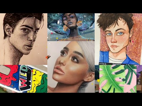 Tik Tok Painting and Drawing Compilation | ART Challenge