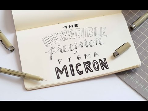 Hand Lettering with Pigma Micron Pens
