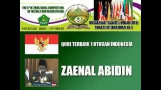 3 QARI Terbaik MTQ Internasional Ke-3, 2015 DI JAKARTA