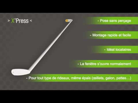 xpress installer une tringle rideaux sans per age sur un caisson de volet roulant youtube. Black Bedroom Furniture Sets. Home Design Ideas