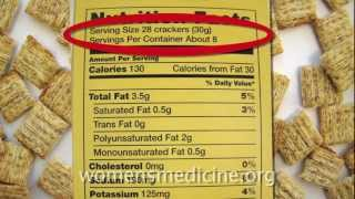 Nutrition Labels 101: What is a serving size and how do I calculate calories? thumbnail