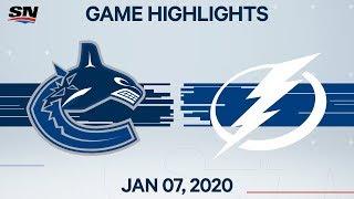 NHL Highlights   Canucks vs Lightning – Jan. 7, 2020