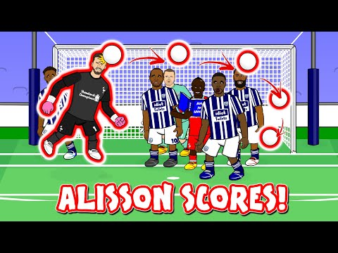 🤯ALISSON SCORES A GOAL!🤯 (Goalkeepers Attempt the Liverpool vs West Brom Header)
