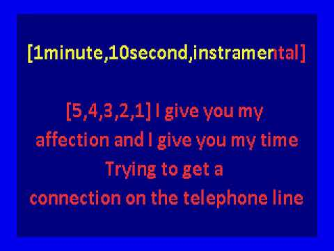 Kraftwerk   -The Telephone Call (karaoke)