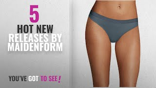 Hot New Maidenform Women Clothing [2018]: Maidenform Sport Heathered Micro Thong