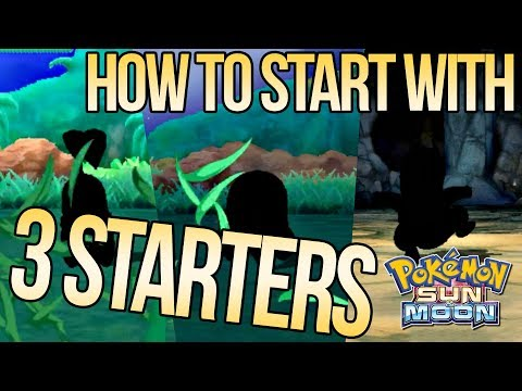 How to Get 3 Starters in Sun & Moon!