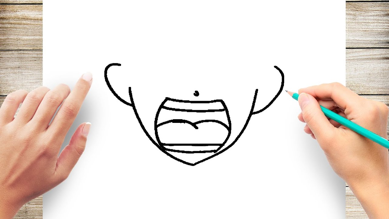how to draw anime mouth step by step youtube