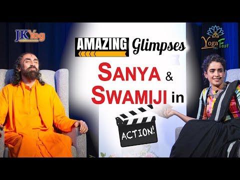 Exclusive Glimpses of Sanya Malhotra Talk to Swamiji at Dallas Yoga Fest | International Yoga Day