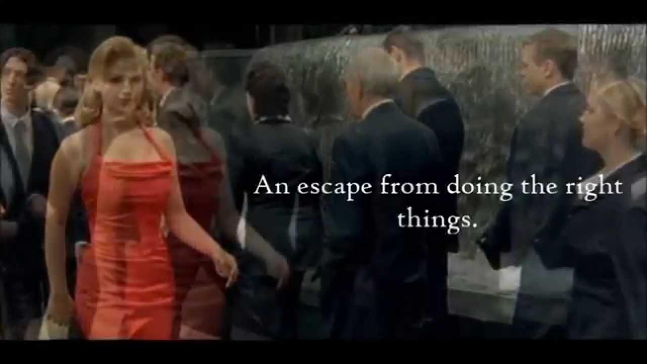 Lady in the red dress matrix scene