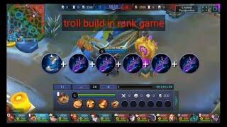 Troll build in rank game