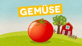 Deutsch lernen für Kinder und Kleinkinder: Frisches Gemüse (DEUTSCH)