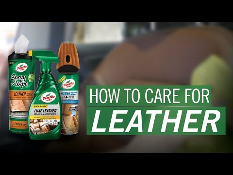 How to Clean Leather Car Seats | Turtle Wax