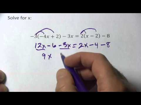 Solving Linear Equations with Variables on Both Sides and Two Distributions
