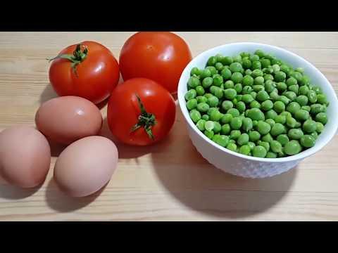 ستعشقون أكل البزيلاء والبيض والطماطم بعد معرفتكم هذه الطريقة وجبة سهلة للعشاء