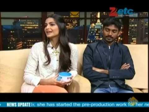 Dhanush & Sonam Kapoor With Komal Nahta