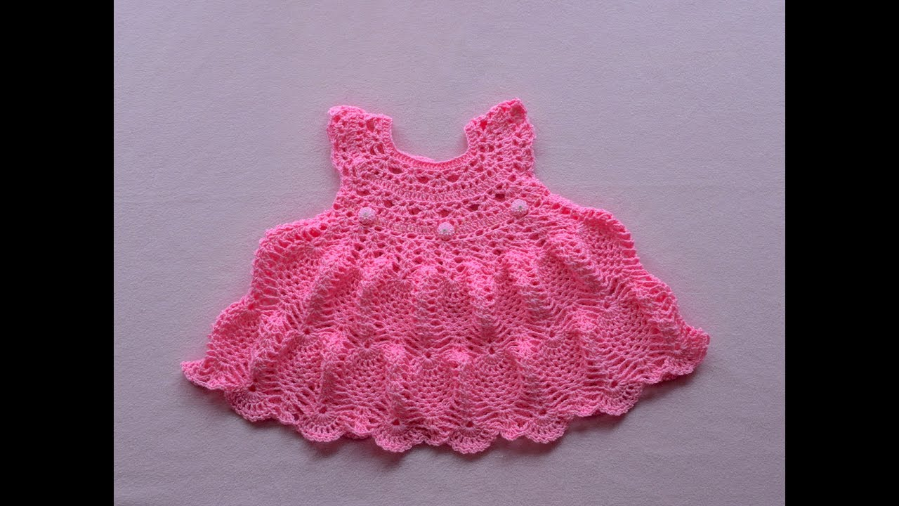 Crochet Baby Dress Tutorial Pinky Pie Crochet Baby Dress