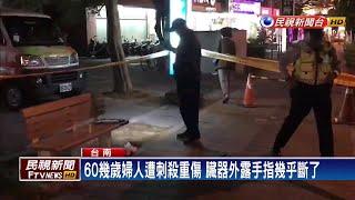 台南路邊刺殺婦人臟器外露 警逮女凶嫌-民視新聞