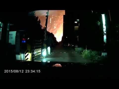 Tianjin Port Explosion    Extremely Close Dashcam Video   YouTube 360p