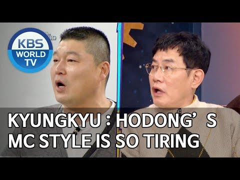 Kyungkyu : Hodong's MC Style Is So Tiring [Happy Together/2019.11.14]