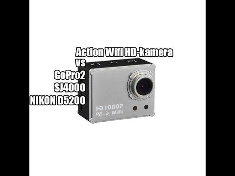 #PN | Action Wifi HD-kamera vs GoPro2 vs SJ4000 vs Nikon D5200