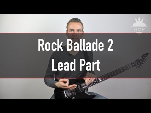 Solo Spielen Lernen - Rock Ballade 2 - Lead Part | Guitar Master Plan