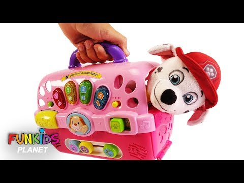 Learn Color Videos For Kids: Paw Patrol Skye, Chase & Marshall Dog Carriers Playset