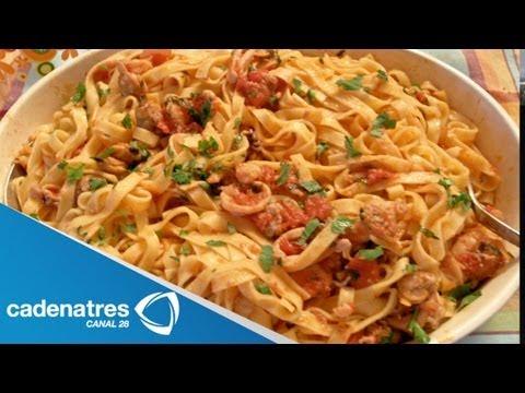 Spaghetti a la marinara / receta de comida italiana