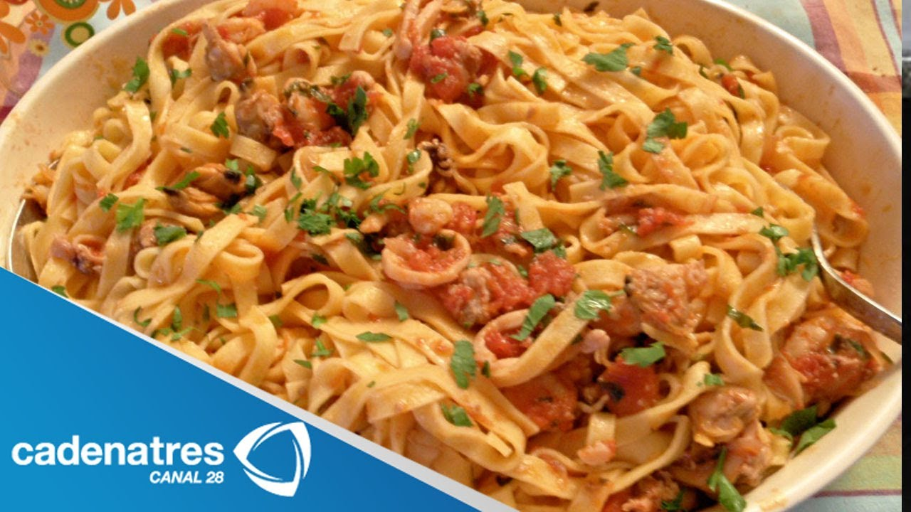 Spaghetti a la marinara receta de comida italiana youtube for Resetas para comidas