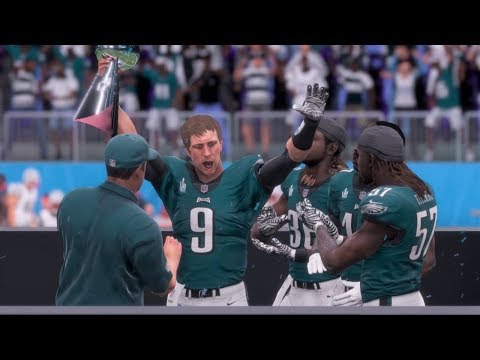 Super Bowl LII Simulation - New England Patriots vs Philadelphia Eagles Madden NFL 18