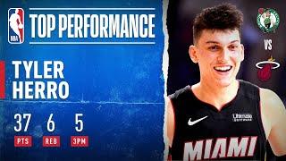 Tyler Herro ERUPTS For #NBAPlayoffs Career-High 37 PTS!