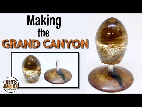 Making the Grand Canyon with resin and burl