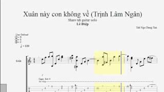 Xuân Này Con Không Về ( Trịnh Lâm Ngân ) - TAB Guitar Lê Điệp