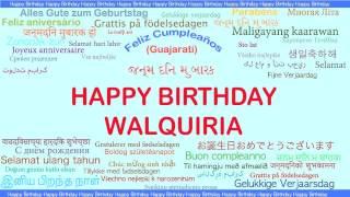 Walquiria   Languages Idiomas - Happy Birthday