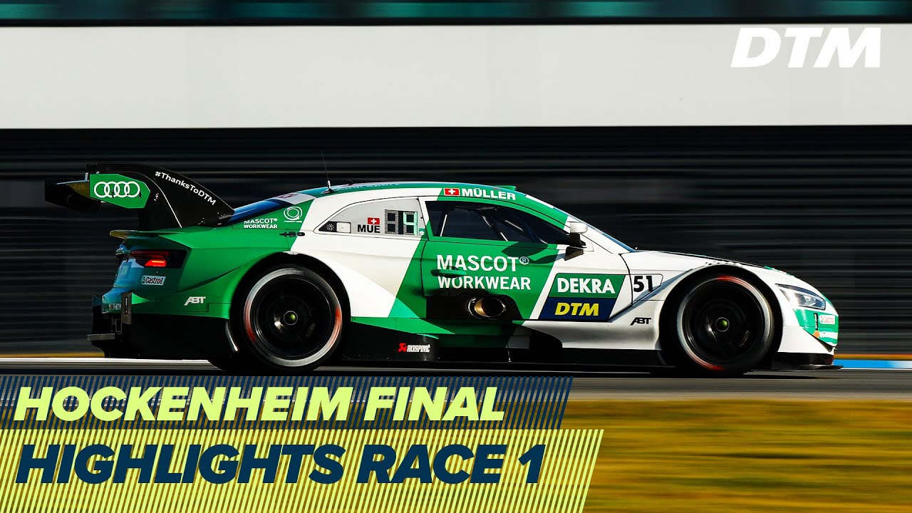 Thriller at the Hockenheim final - Title decision deferred   Highlights Race 1   DTM Hockenheim 2020