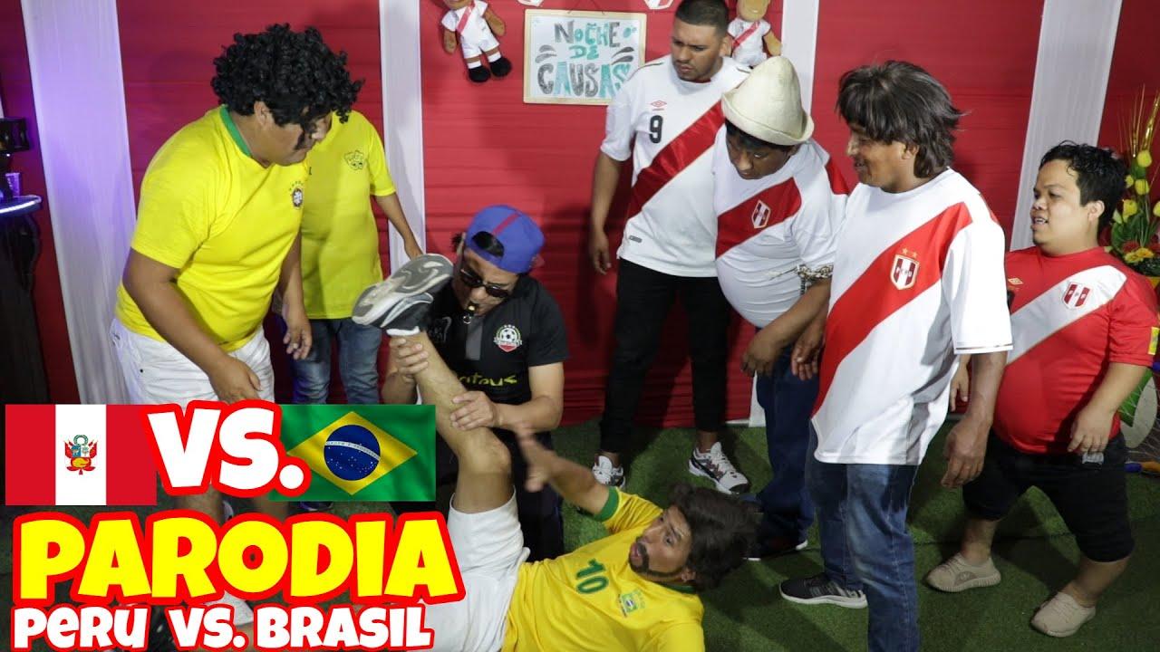 PARODIA PARTIDO PERU VS BRASIL - CHINO RISAS - COMICO LUCKY - MOSTRITO - GORDA SEXY - MARCIANO
