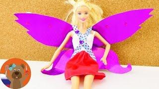 Как сделать сказочную фею из обычной куклы Барби | Мастер-класс для детей