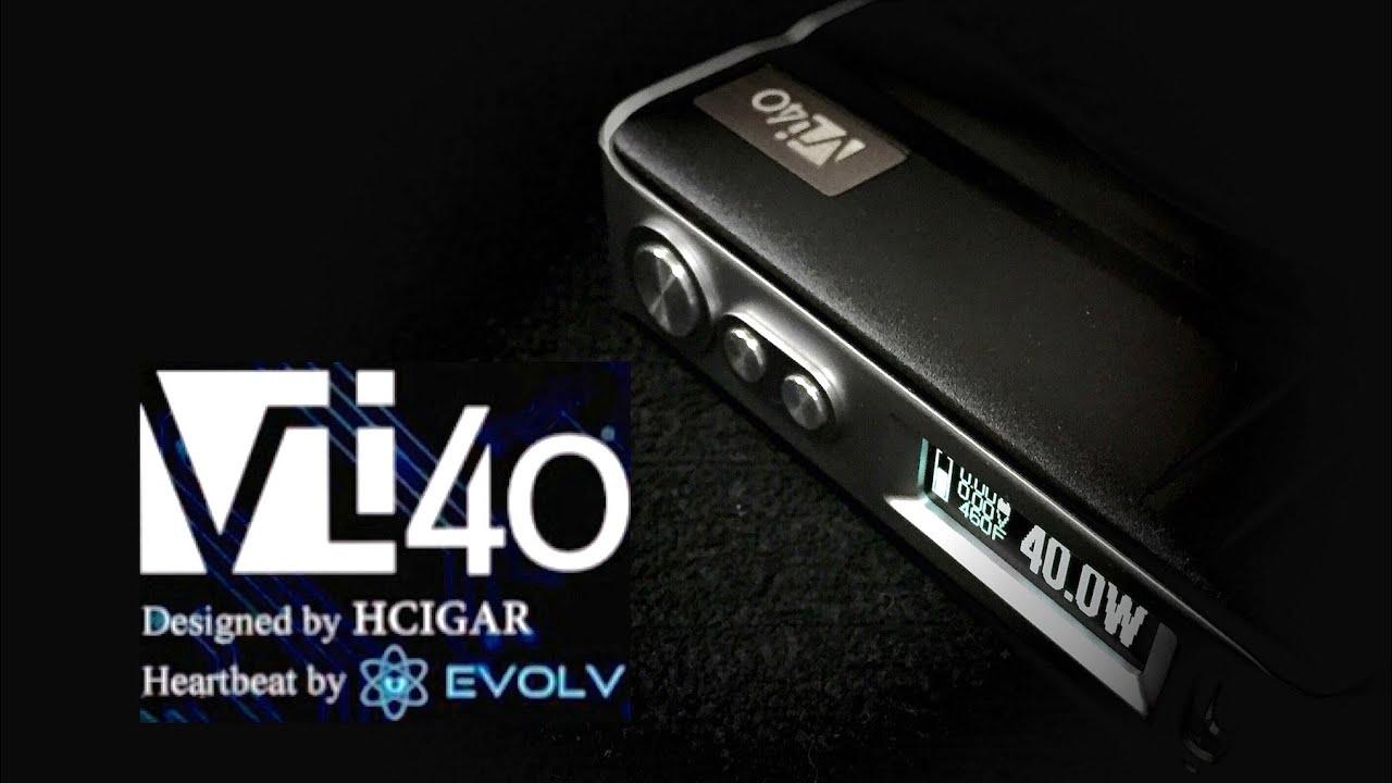 HCigar VT40 Evolv DNA40 Mod - Black (FREE CHARGER)