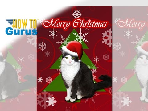 How to put Your Cat or Dog into a Christmas Card in Photoshop ...