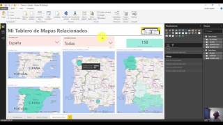 Agrega mapas relacionados y filtrados a tu informe en Power BI Desktop