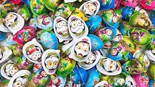 NEW! 100 Kinder Surprise Eggs A Lot of Kinder Surprises Eggs Unboxing Kinder Surprise Video For Kids