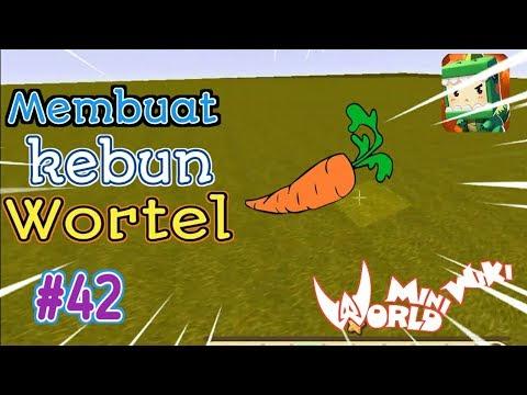 Kebun Wortel Di Mini World Block Art Survival Indonesia Episode 42 #42 - 동영상