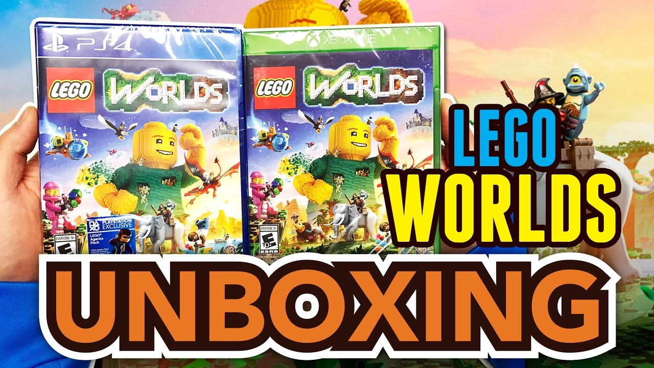 lego worlds ps4 xbox one unboxing youtube. Black Bedroom Furniture Sets. Home Design Ideas