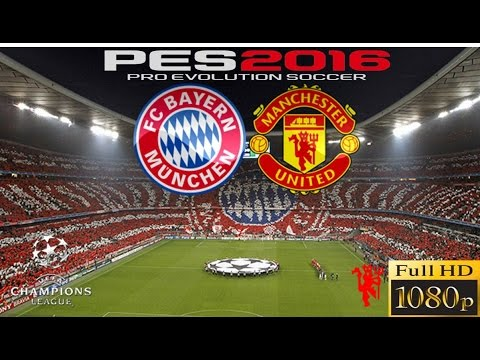 PES 2016 CHAMPIONS LEAGUE BAYERN VS MANCHESTER UNITED - PS4 GAMEPLAY FULL HD